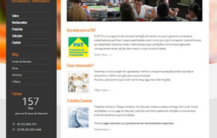Novo site da Naturas