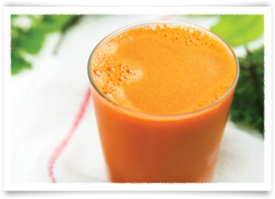 Suco Natural de Cenoura com Laranja